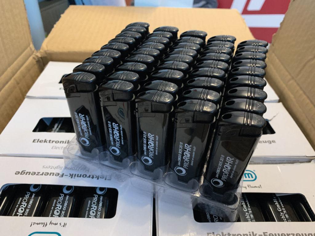 Feuerzeuge bedruckt MediaHeroes Werbeagentur