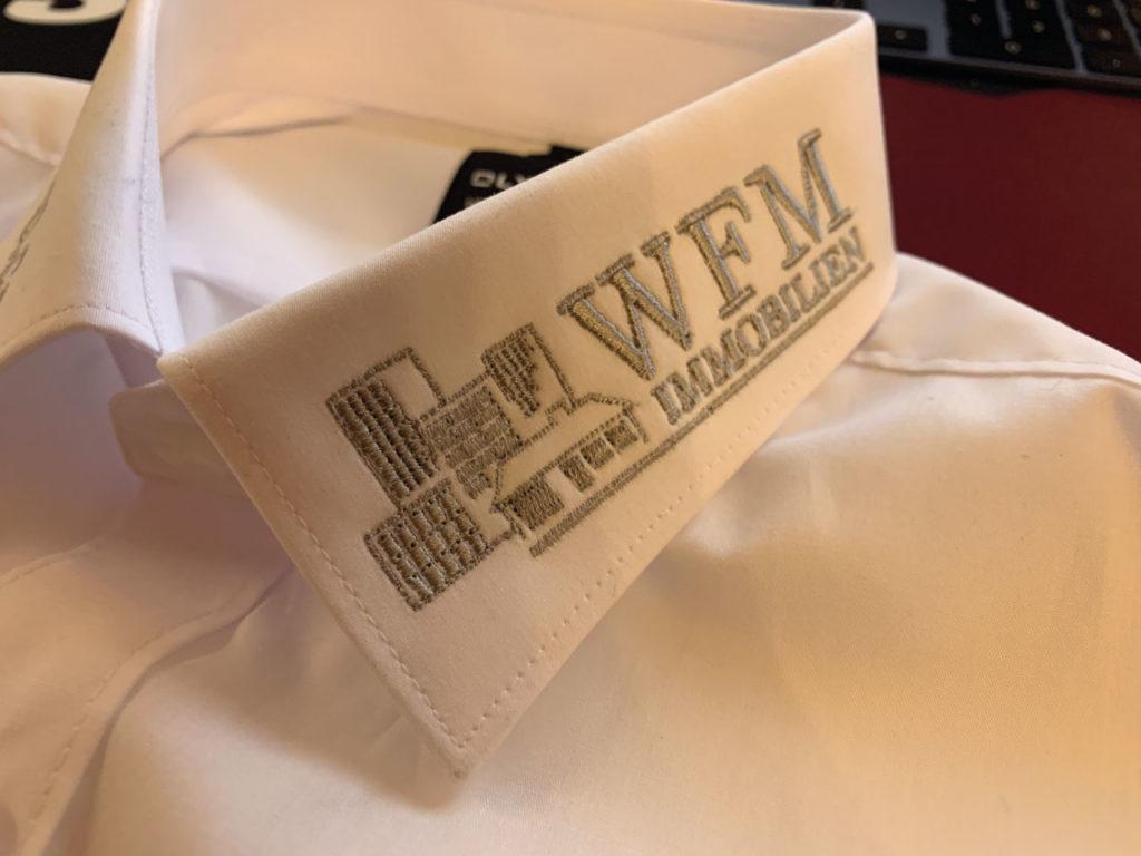 Bestickung auf Textilien