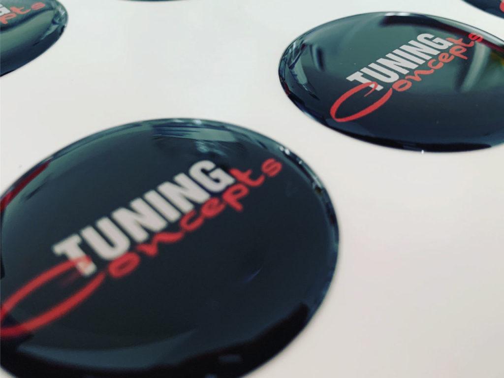 3D Aufkleber Doming Etiketten MediaHeroes Neumünster