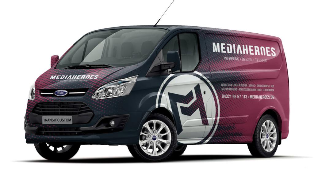 MediaHeroes Fahrzeugbeschrifung Neumünster